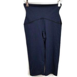 Spanx Smooth Capri Leggings Navy Blue Size Large